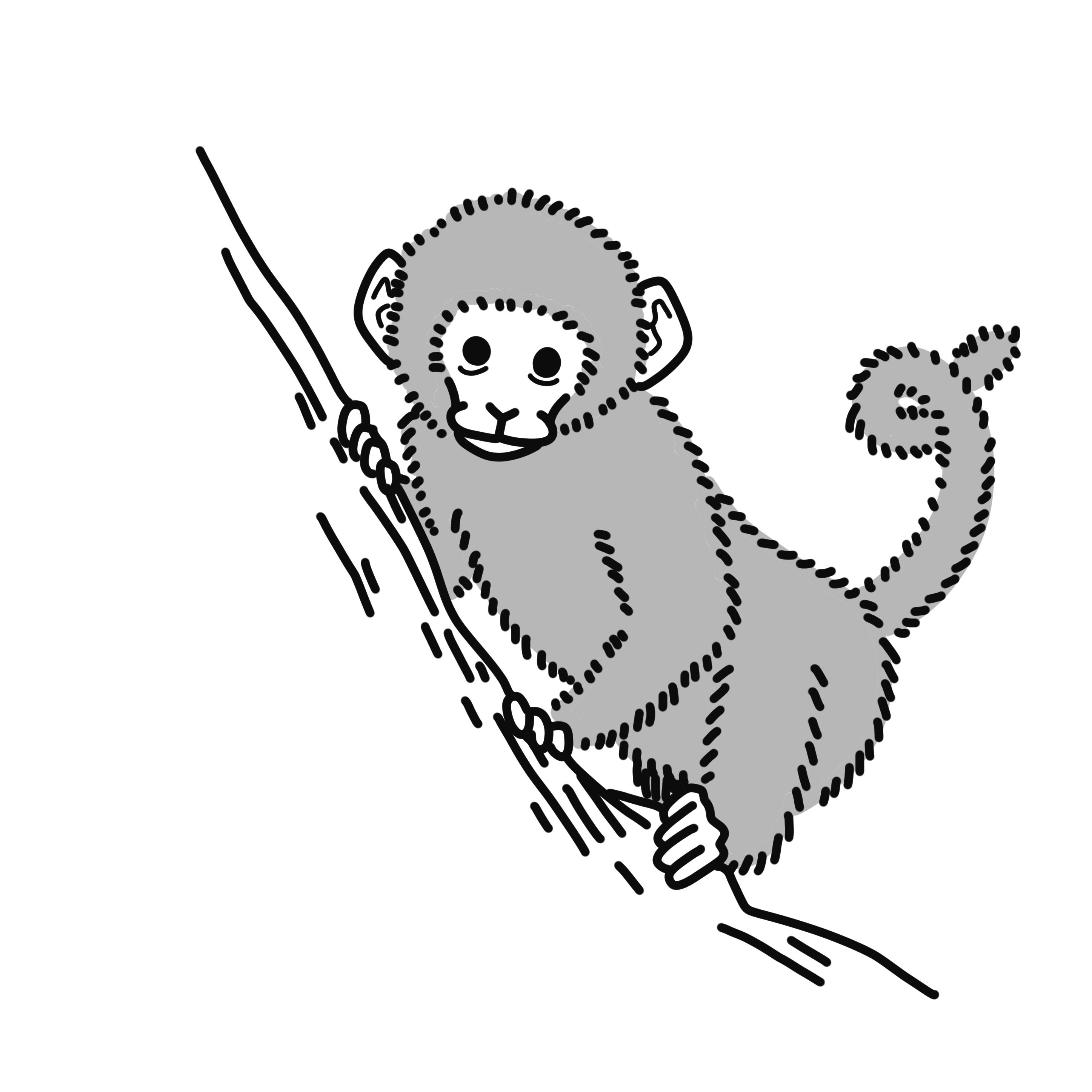 英語イラスト猿