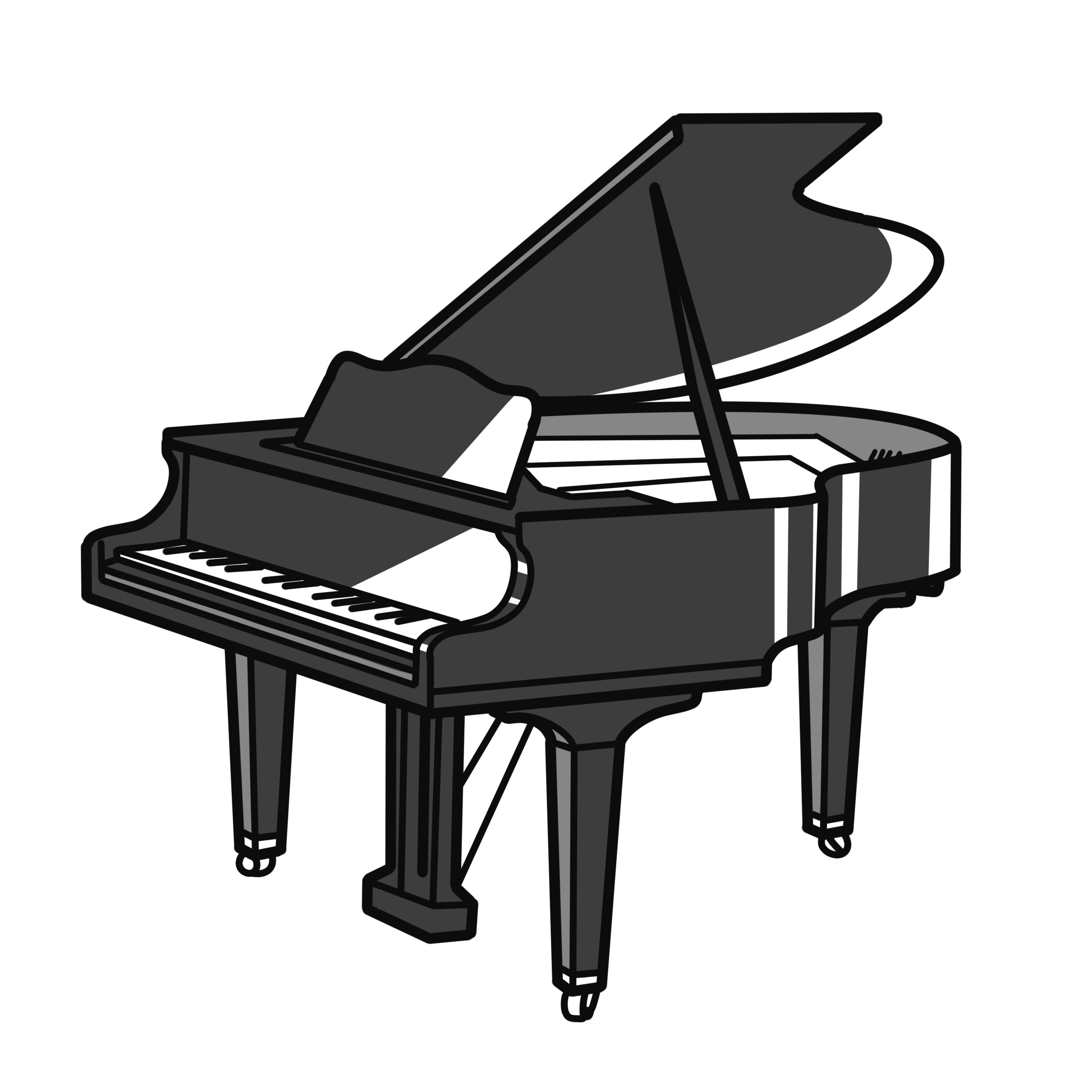 英語イラストピアノ