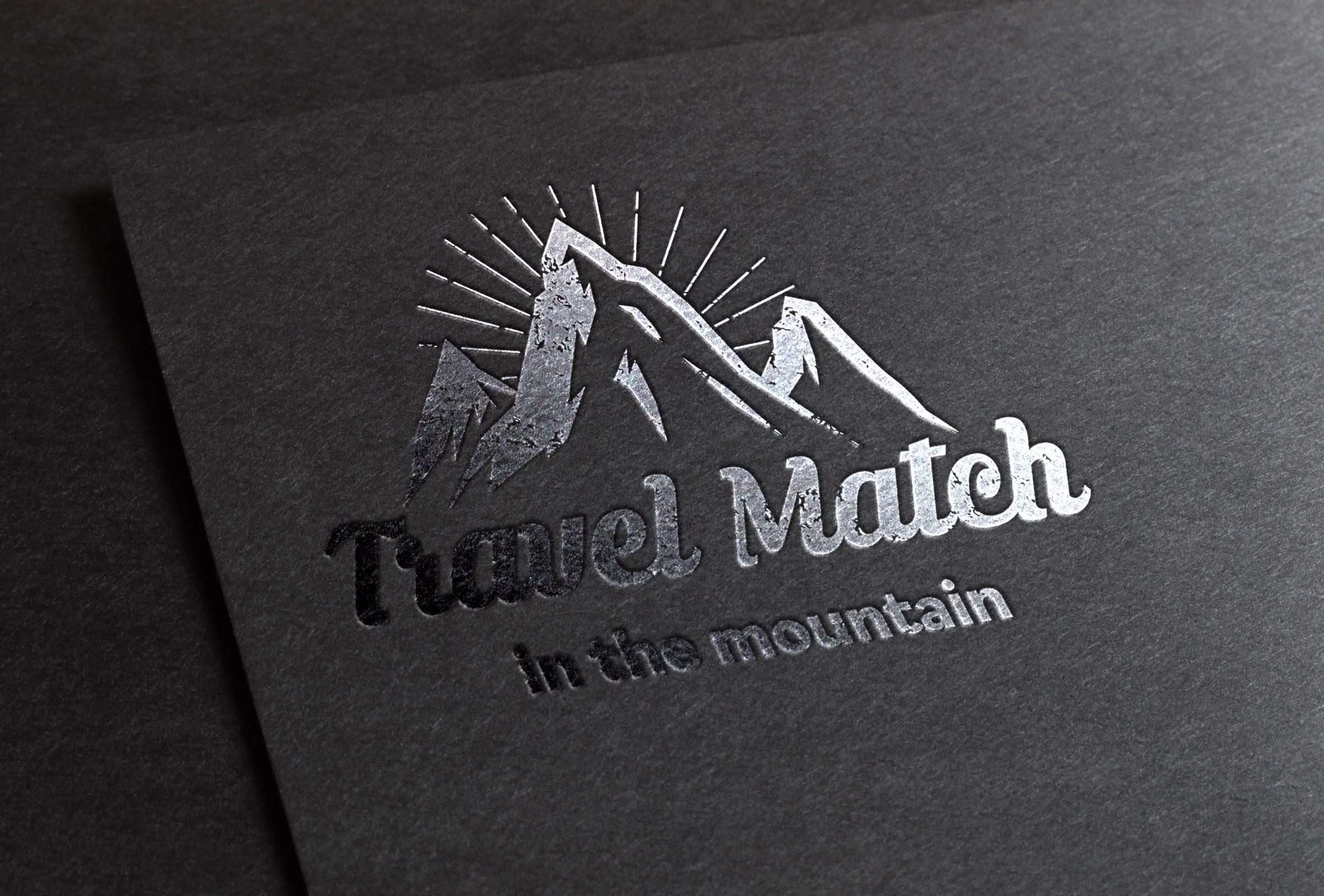 Travel Match mountain ロゴ